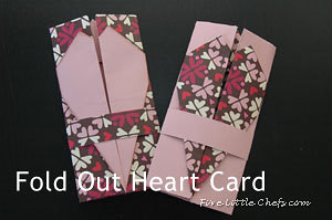 fold out heart card