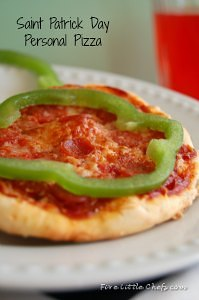 St. Patrick Day Personal Pizza