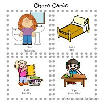 Chore Cards from fivelittlechefs.com #printable