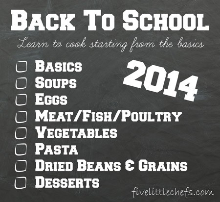 Cooking School 2014 with fivelittlechefs.com #kidscookingschool