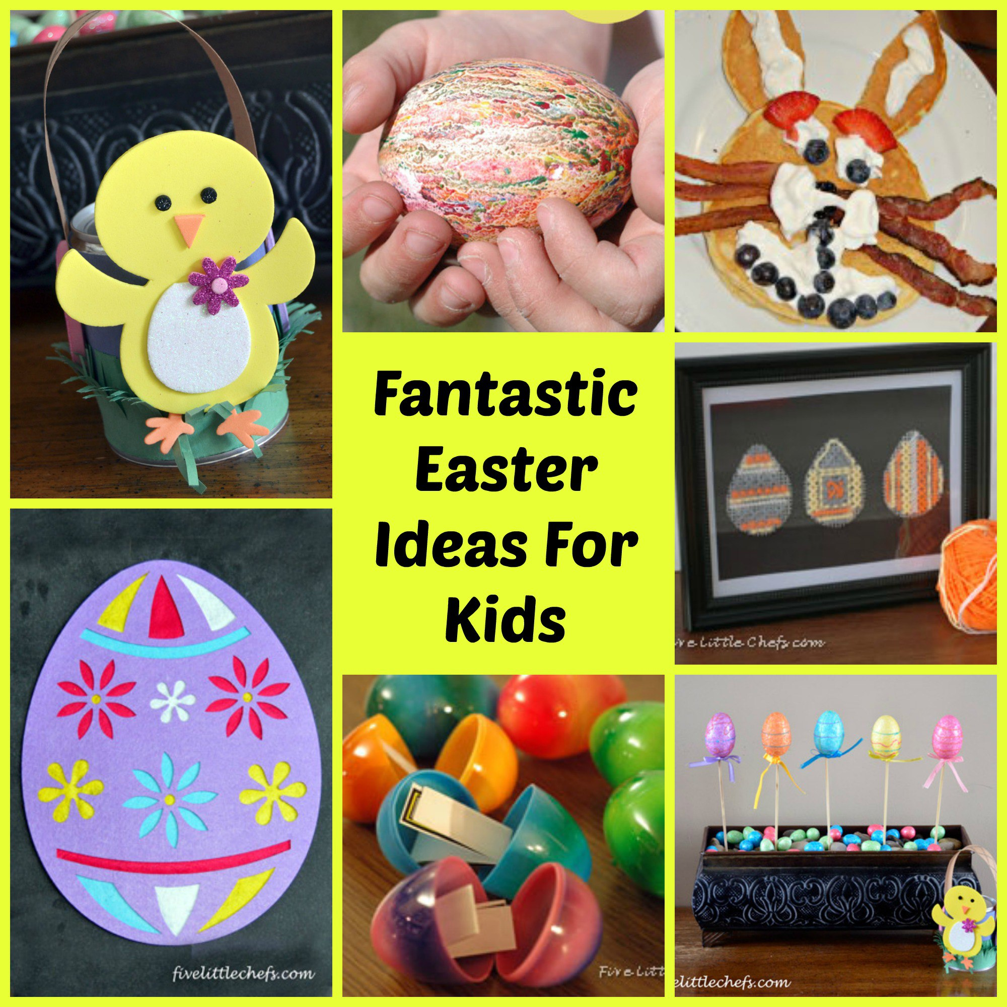 Easter ideas for kids from fivelittlechefs.com