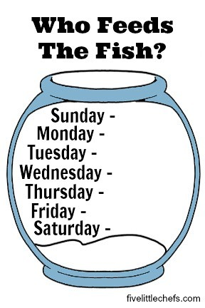 printable fish feeding schedule
