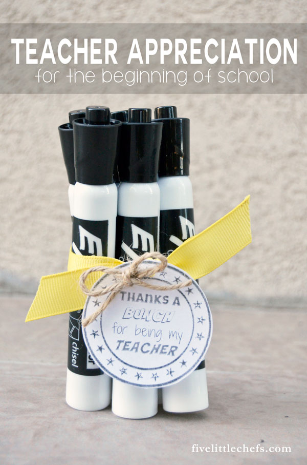 Start the new school year off with teacher appreciation diy gifts with free printable. Teacher gifts are good year round.